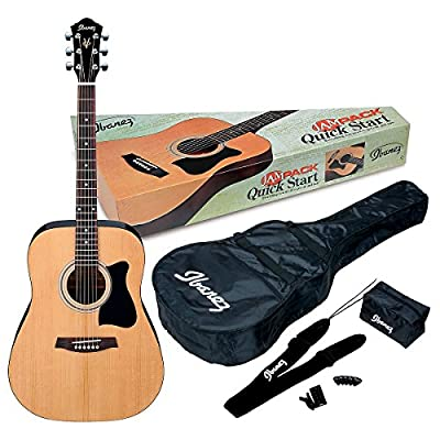 Ibanez JamPack IJV50 Quickstart Dreadnought Acoustic Guitar Pack by Ibanez