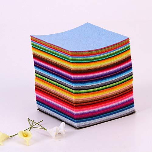 88Pcs 10x10cm Polyester Felt Non Woven - DIY Non Woven Felt Fabric - Felt Cloth Fabric - Feltro Fabric- Nonwoven Fabric Decoration - DIY Fabric for Sewing