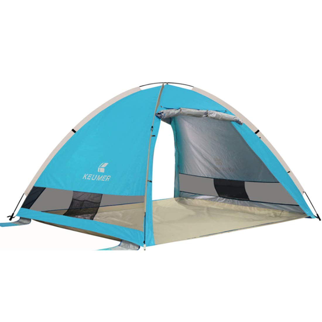 Xasclnis Wild Camping für 4 Personen oder 3 Personen Zelt (grün) (Farbe : Lake Blau)