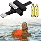 Göksu Portable Wearable Safety Inflatable Rescue Life Jacket Lifesaving Bracelet Device - Wristband Lightweight Float Water Buoyancy Aid for Kids, Adults Paddle Kayaking Fishing Swimmer Anti-Drowning