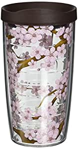 Tervis Tumbler Cherry Blossom Wrap with Travel Lid, 16-Ounce