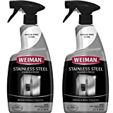 Weiman Stainless Steel Cleaner & Polish Trigger Spray 22 fl oz. (2 Pack) - Protects Appliances From Fingerprints and Leaves a Streak-free Shine