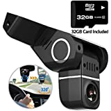 Pruveeo H1-Plus Dash Cam with 32GB Card Included, FHD 1080P 170 Degree Wide Angle Dash Camera for Cars