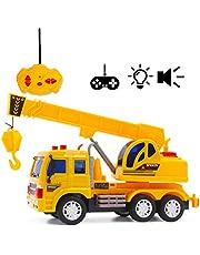 deAO RC Camiones de Serie Camión de Construcción Radio Control Vehículo de Obras con Luces y Sonidos Nivel Principiante