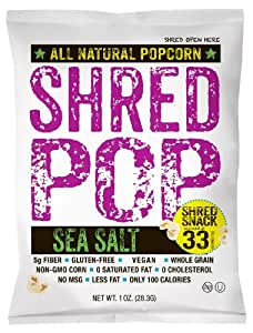 SHRED POP popcorn (Sea Salt)