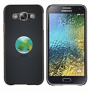EJOOY---Cubierta de la caja de protección para la piel dura ** Samsung Galaxy E5 E500 ** --Orbit Inicio La Tierra