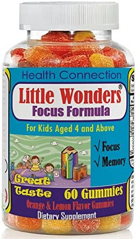 Brain Supplement for Kids, Kids Gummy Vitamins with Omega 3-6-9, EPA DHA- 60 Gummies, Brain Booster Vitamins, Immunity, Concentration, Mood Booster, Mind Enhancement Formula