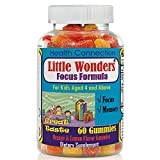 Brain Supplement for Kids, Kids Gummy Vitamins with Omega 3-6-9, EPA DHA- 60 Gummies, Brain Booster Vitamins, Immunity, Concentration, Mood Booster, Mind Enhancement Formula