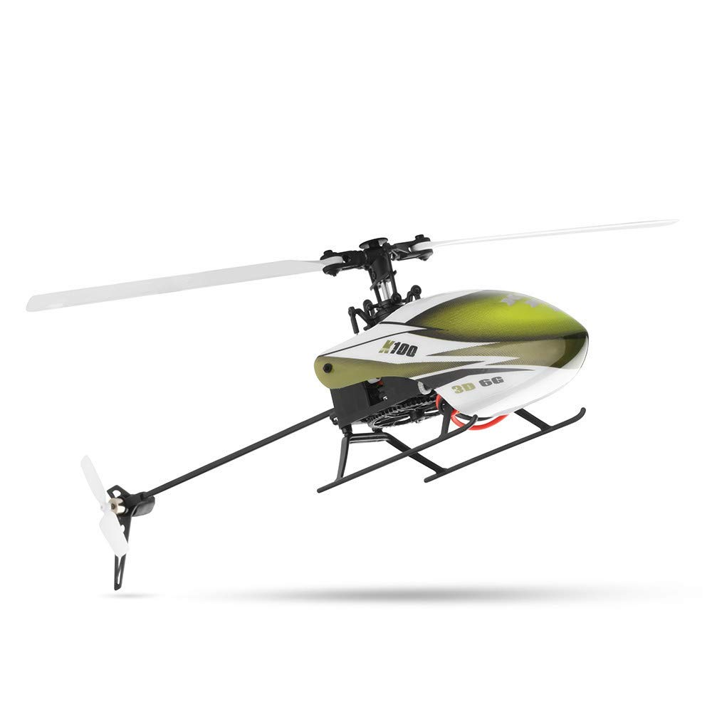RC Helicopter 6 Channel RTF, XK K100 6CH 2.4Ghz Mode 2 3D 6G System RC Helicopter Built-In Gyro Super Stable Flight, Good Choice Helicopter for Beginners (Green)