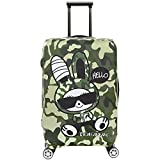 3D Print Rabbit Design Travel Trolley Case Cover Protector Suitcase Cover 30''-32'' Trolley Case Luggage Storage Covers Size XL With Luggage Strap Suitcase Belt