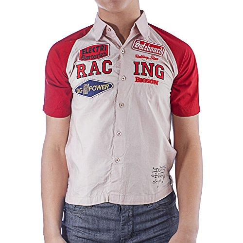 Ed Hardy Big Boys' Buttoned Shirt- Rose - Large