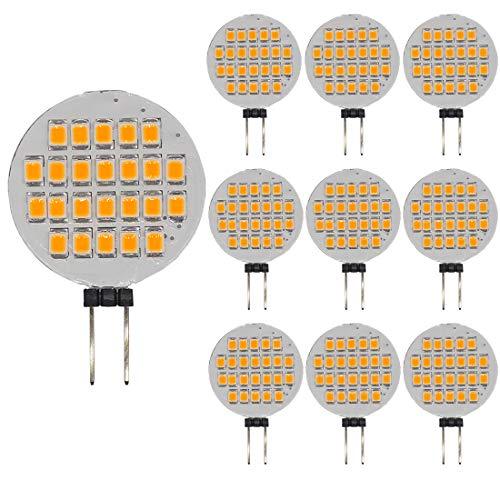 GRV G4 24-2835 SMD LED Bulb lamp Super Bright Warm White AC12V DC12V -24V Pack of 10