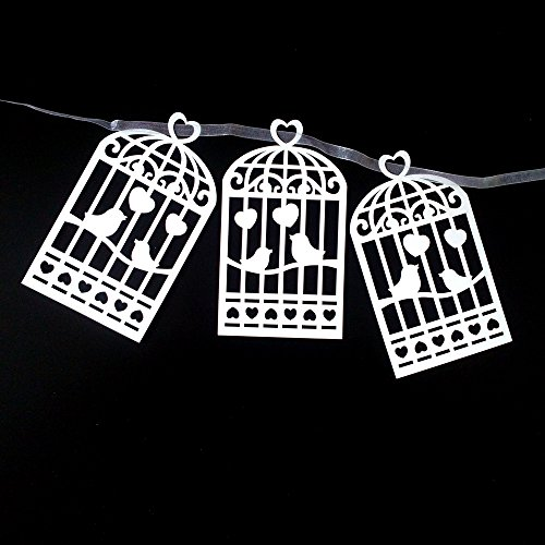 JANOU Love Bird Cage Paper Garland Hanging Banner for Wedding Birthday Party Decoration