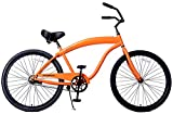 Fito Men's Modena Sport 2.0 1 Speed Beach Cruiser Bike, Orange, 18