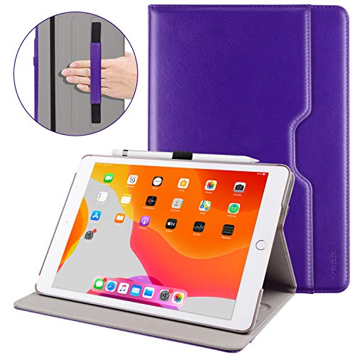 VSER Case for New iPad 7th Generation 10.2 Inch 2019,Premium PU Leather Slim Folding Stand Cover with Auto Wake/Sleep, Multiple Viewing Angles for Newest iPad 2019 7th Gen 10.2(Purple)