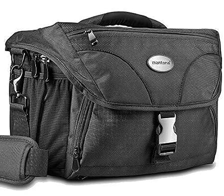 Mantona Neolit XL - Bolsa para cámaras SLR (impermeable, cierres de metal, tamaño XL), color negro: Amazon.es: Electrónica