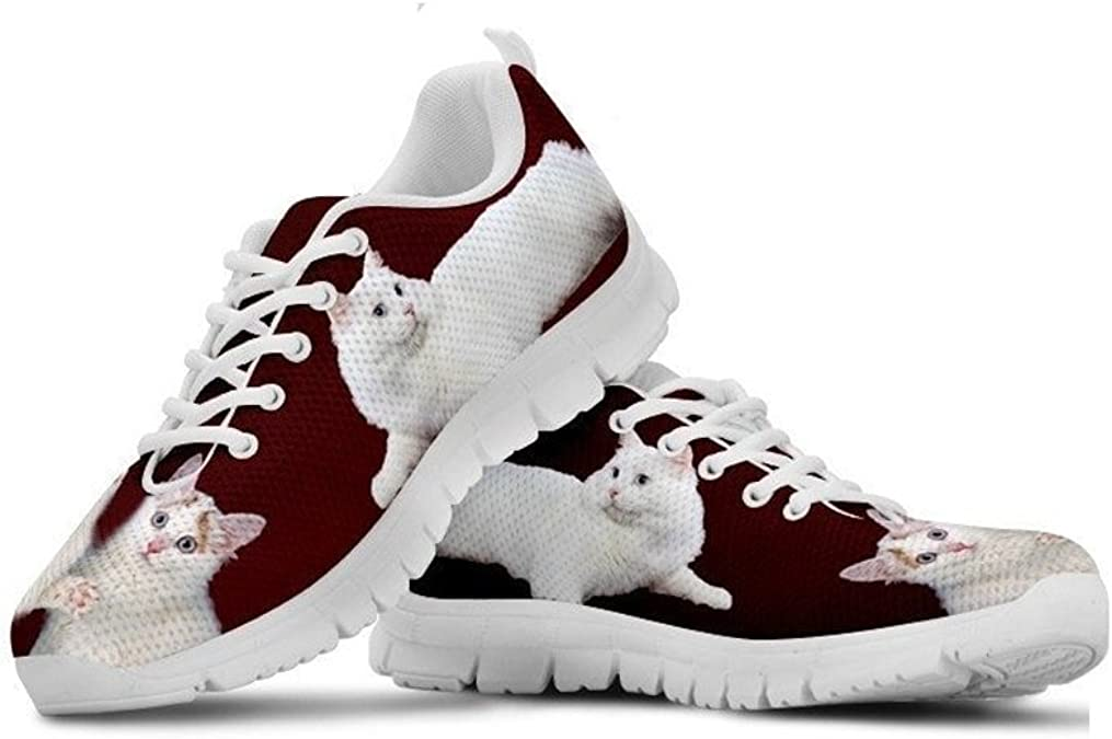 Womens Sneakers-Turkish Van Cat Print Casual Comfort Sports Running Shoes