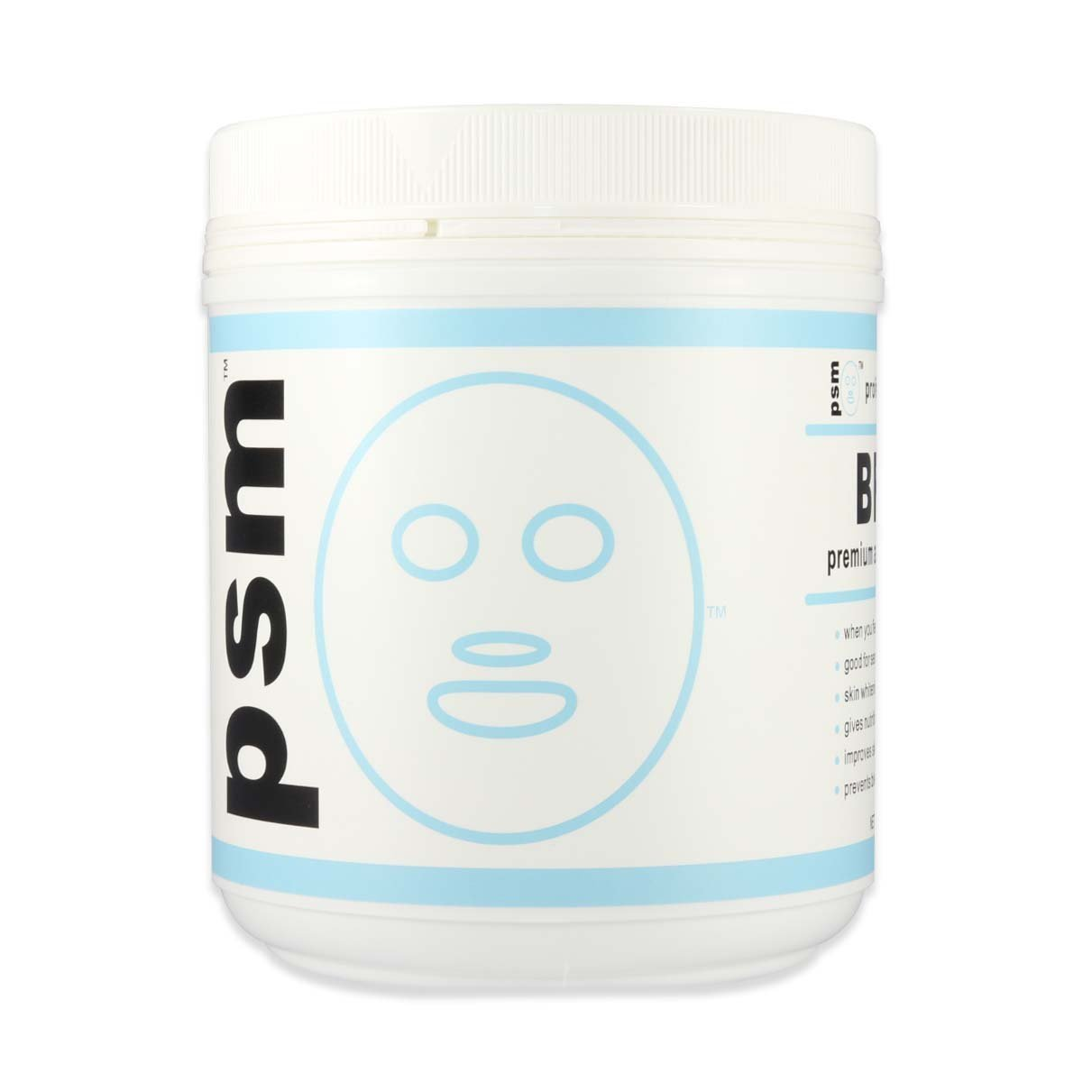 psm BRIGHT Premium Algae Peel Off Facial Mask Powder for Professional Skin Care 17.6 OZ (1.1LB / 500g) by PSM Beauty (Image #1)
