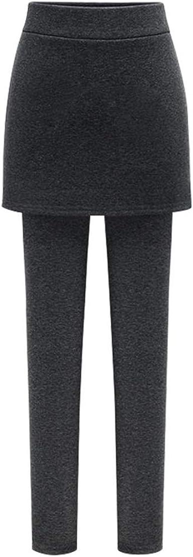 Haizhe Falda Pantalones para Mujer Pantalones elásticos Leggings ...