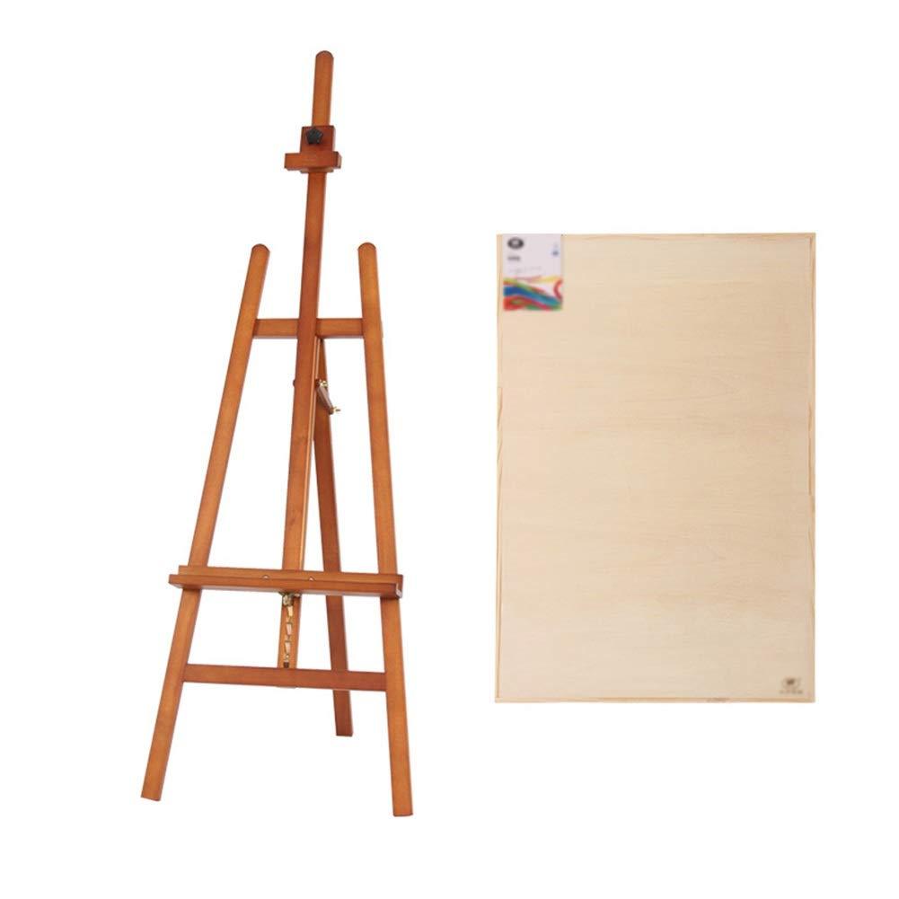 YY 2Kスケッチパッドが付いている木のイーゼル、絵画のための油絵のイーゼルの立場の芸術家イーゼル - 147-193CMの高さ調節可能 (色 : ウォールナット色)  ウォールナット色 B07RC1G5MQ