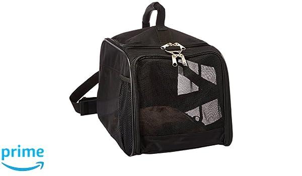 ... pequeño, Negro, Suave Cara Plegable Plegable Bolsa de Viaje, Perro, Gato, Apto en aerolíneas Bolso Equipaje Mochila: Amazon.es: Hogar