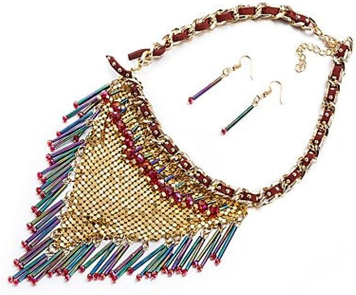 GYJUN Mode africaine mariage collier et boucles d/'oreilles bijoux pour femmes