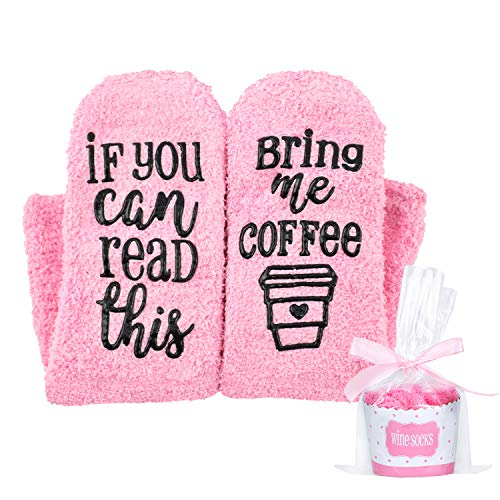 Coffee Cupcake - Seafirst If You Can Read This Bring Me Some Coffee Socks,Cupcake Gift Boxes-Pink