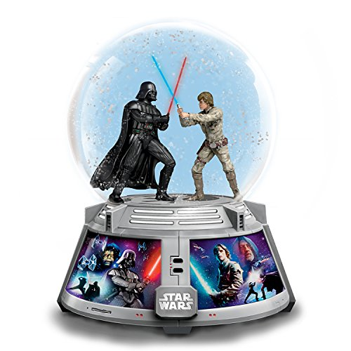 Bradford Exchange STAR WARS Forces of Light and Dark Light Up Glitter Globe Plays the Theme ()