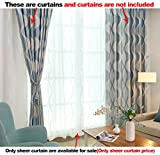 ASide BSide Sheer Curtains Wave Polka Dots Fashionable Style Rod Pocket Top Transparent Window Decoration For Houseroom Sitting Room and Kitchen (1 Panel, W 52 x L 63 inch, White)