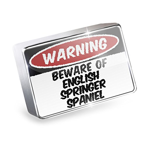 Floating Charm Beware of the English Springer Spaniel Dog from England Fits Gla (English Springer Spaniel Charm)