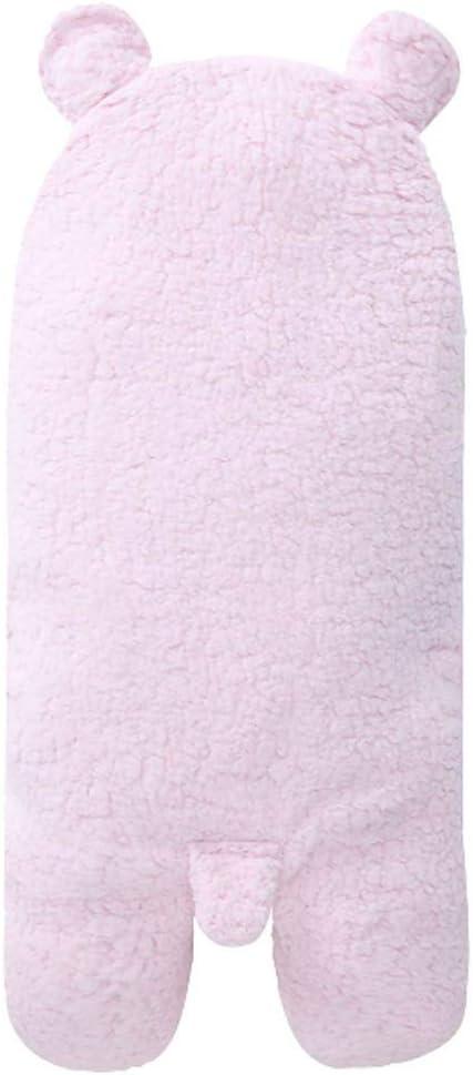 Urik 0-1 Jahre Kleinkind Schlafs/äcke Kind Hoodie Lamm Decken Neugeborenes Baby Bademantel Weich Warm Baby Kapuzentuch Handtuch Duschtuch 55x29cm