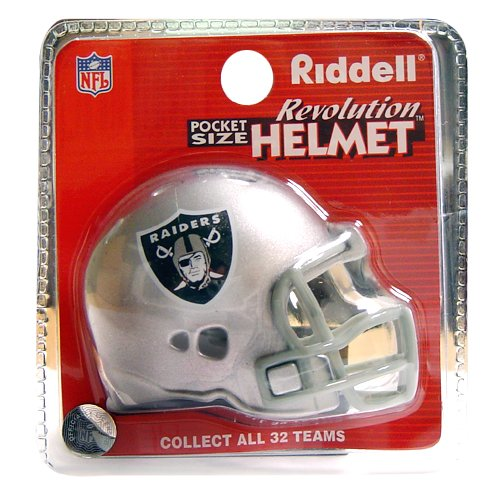 - Oakland Raiders Revolution Style Pocket Pro NFL Helmet by Riddell