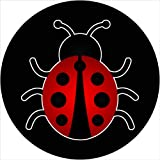 Ladybug on Black Spare Tire Cover for 205/75R14 Jeep RV Camper and more (Select from popular sizes in drop down menu or contact us-ALL SIZES AVAILABLE) …