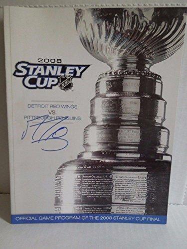 Marc Andre Fleury Autographed 2008 Stanley Cup Finals Program Signed Marc-andre - Autographed NHL Magazines (Magazine Program Autographed)