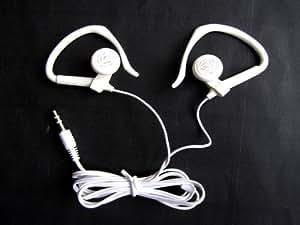 White Stereo Headphones 3.5mm with Ear Hooks for Nabi 2 XD Jr. Tablet 8GB 16GB In-Ear Headset Earset Headphone 3.5 mm