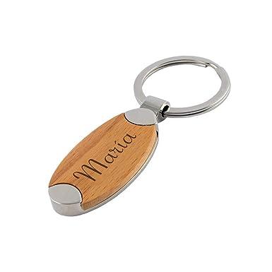 Promo Shop Llavero de madera personalizado con nombre o ...