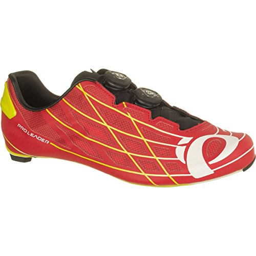 Pearl iZUMi Pro Leader III Cycling Shoe, True Red/Lime Punch, 46.5 EU/12 D US by Pearl iZUMi
