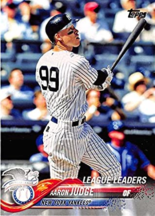 2018 Topps 193 Aaron Judge New York Yankees Baseball Card