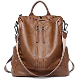 ZUNIYAMAMA Casual Purse Fashion School Leather Backpack Crossbady Shoulder Bag Mini Backpack for Women & Teenage Girls brown