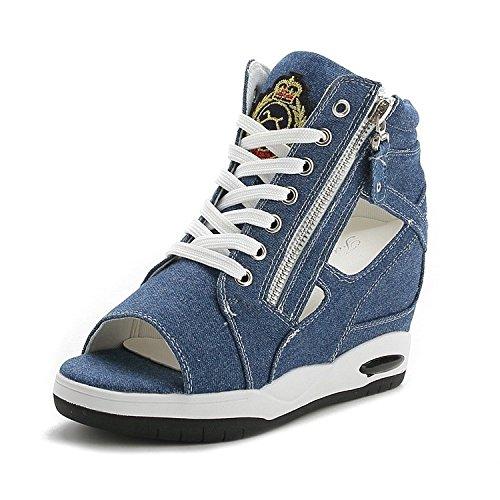 XXM-Shoes Fine avec Bouche la Bouche Sandales de Poisson B01LWD9UHV Sandales Sandales Exposed Fermeture Éclair sur Toile Sandales Femelle 39 c92b311 - boatplans.space