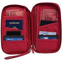 Hopsooken Travel Wallet & Passport Holder Organizer Rfid Blocking ID Card Pouch(Rose)