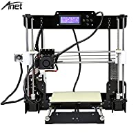 Anet A8 3D Printer, Acrylic Frame Large Print Size 220x220mm Heated Bed Self-Assemble DIY i3 3D Printer Kit with Tools Gifts