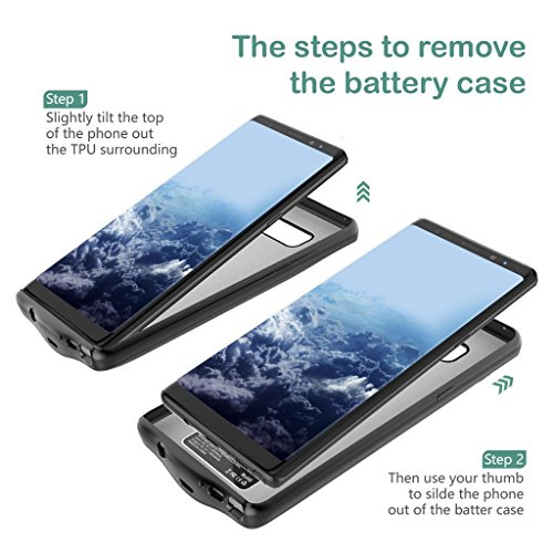 Samsung Galaxy Note 8 Battery claim Wofalodata 5500mAh Rechargeable Extended Battery Charging claim for Samsung Galaxy Note 8 External Battery Charger claim Backup potential Bank claim Black Battery Charger Cases