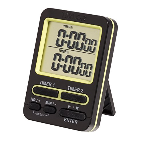 Taylor 5880 Dual Event Digital Timer w/Clock, Black - Event Digital Timer