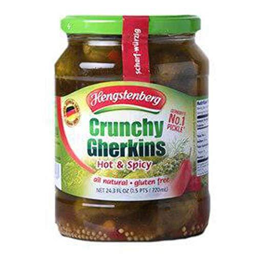 Hengstenberg Crunchy Gherkins Hot and Spicy 720ml