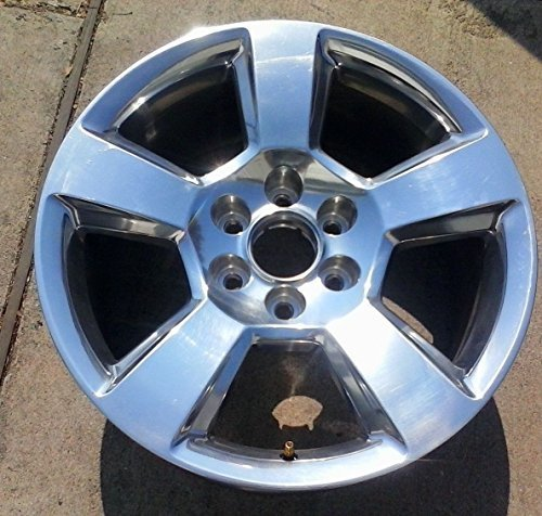 20 INCH 2014 2015 2016 2017 CHEVY TAHOE SUBURBAN SILVERADO 1500 OEM POLISHED ALLOY WHEEL RIM 5652 2093796 20937764 20X9 6X5.5 (Chevy Silverado Rims And Tires)