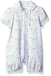 Magnificent Baby Girls\' Magnetic Ruffle Butt Romper, Bluebell Floral, 3M