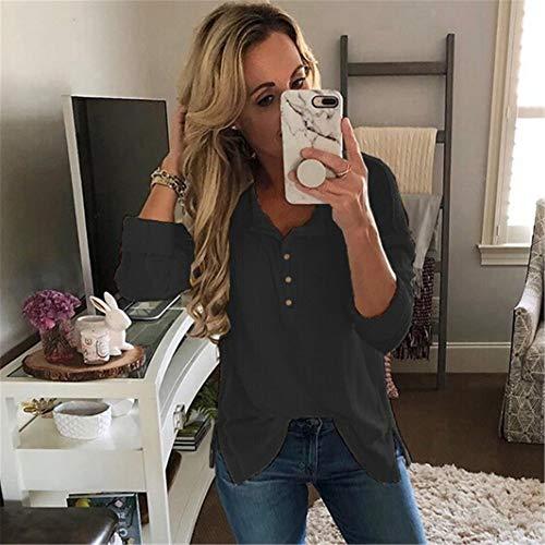Chemise Shirt en t Top Manches OVERMAL Blouse Longue T Haut Automne Sweatshirts Dcontracte Vrac Chic Noir Femmes et Sexy 1 Mode Vetements wTqqOXnZA
