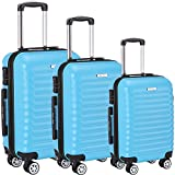 Luggage Set 3 Piece ABS Trolley Suitcase Spinner Hardshell Lightweight Suitcases TSA