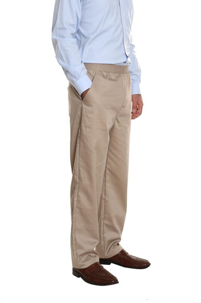 Pembrook Men's Full Elastic Waist Twill Casual Pant - L - Tan by Pembrook (Image #3)